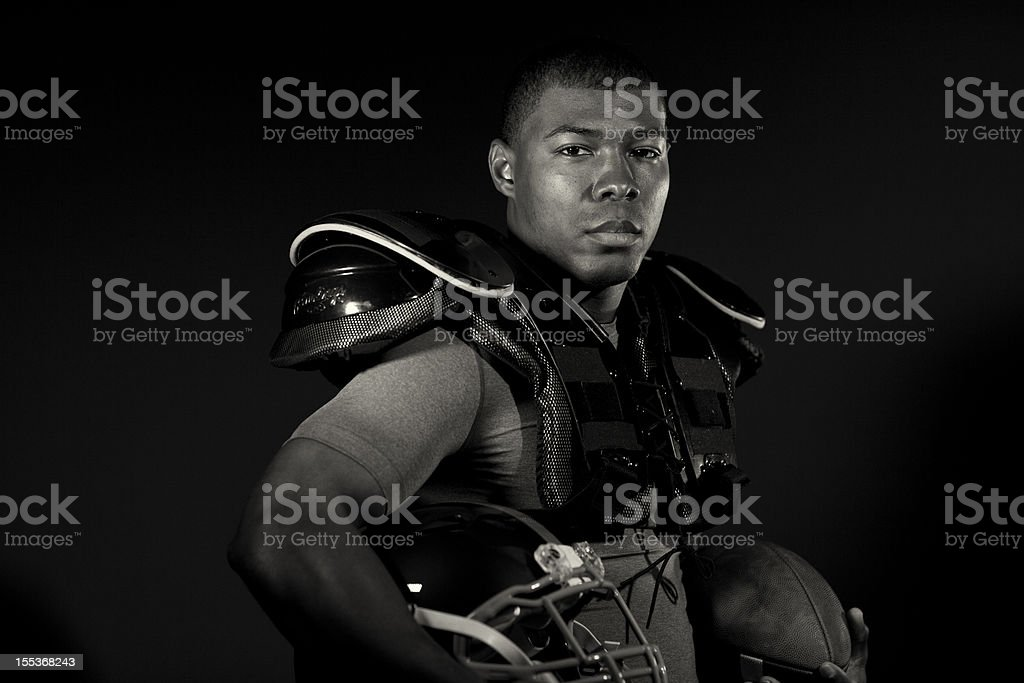 Tackle Football Player royalty-free stock photo