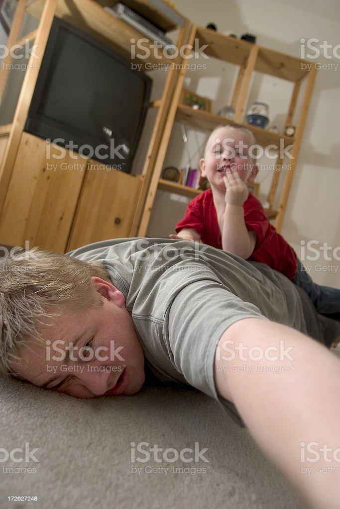 Tackled - Kids at play royalty-free stock photo