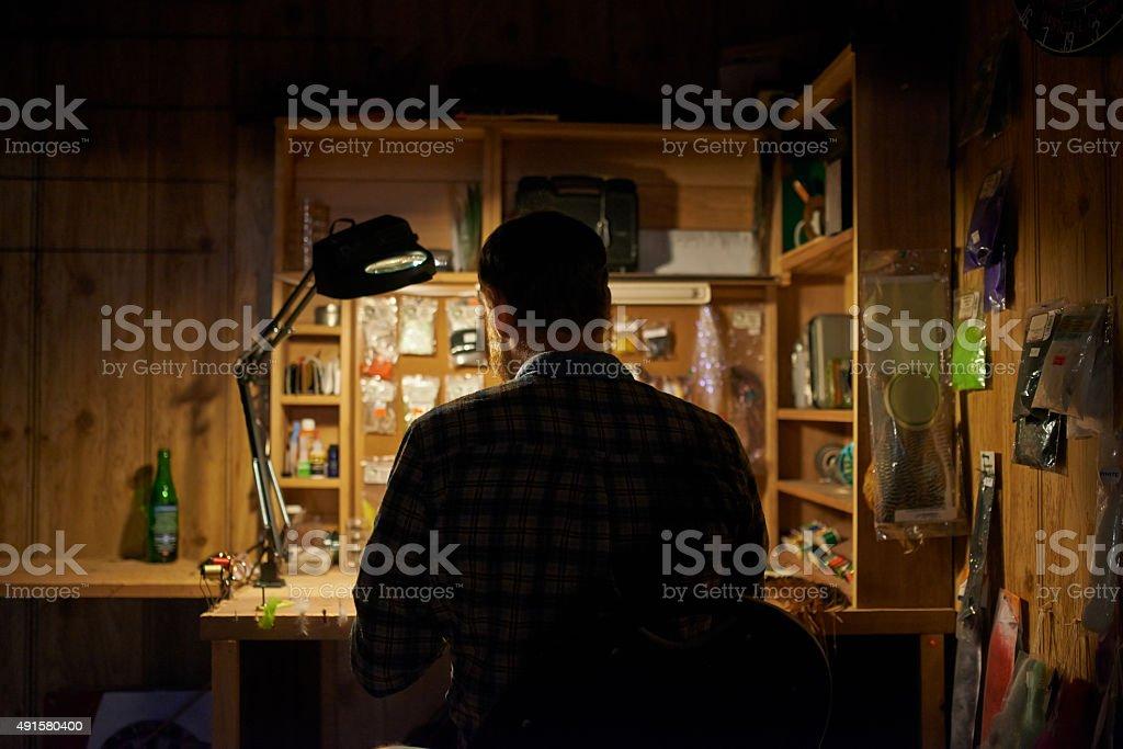 Tackling the job at hand stock photo
