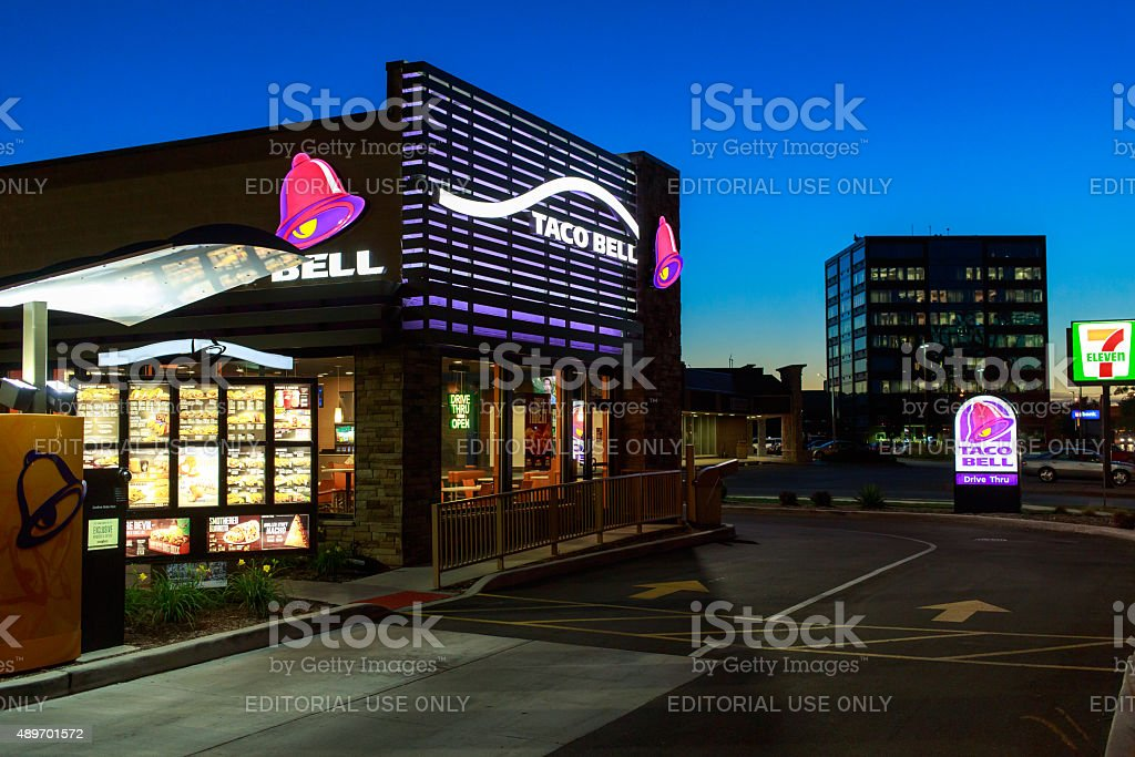 Taco Bell and Seven Eleven Rosemont Illinois stock photo