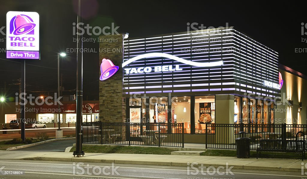 Taco Bell Late Night Hours stock photo