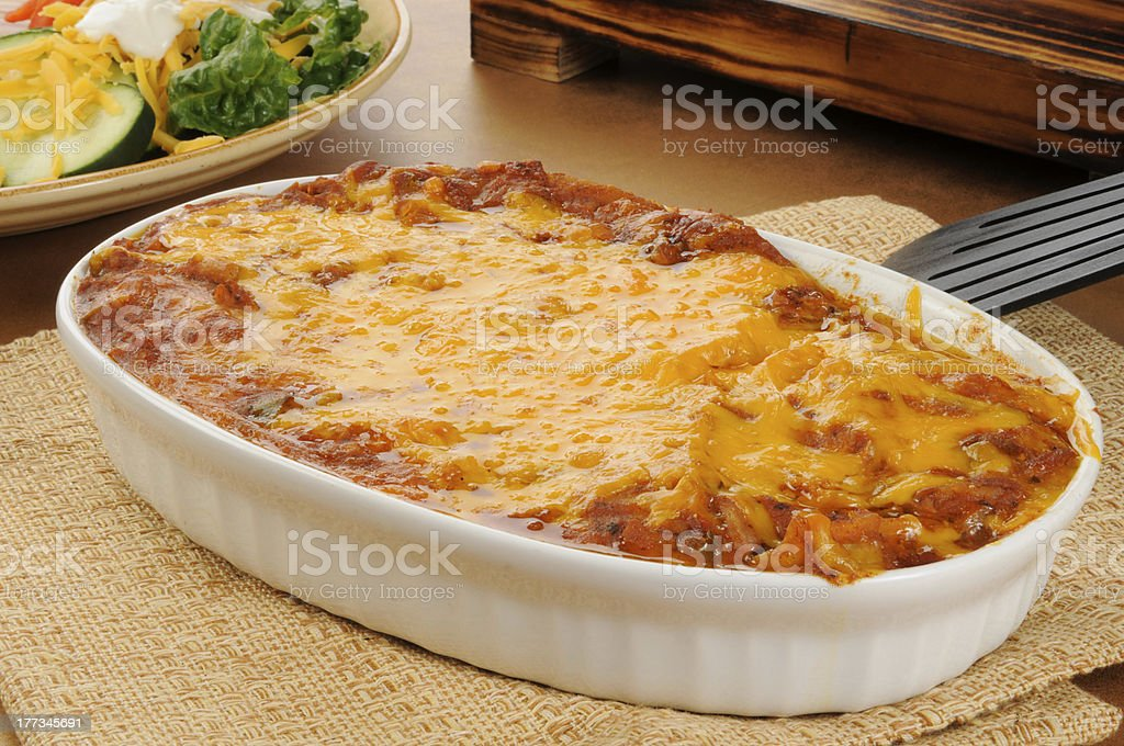 Taco casserole stock photo