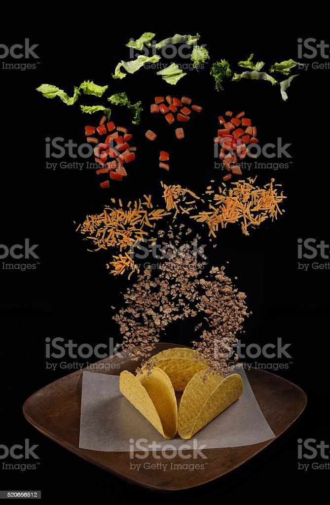 Taco Explosion stock photo