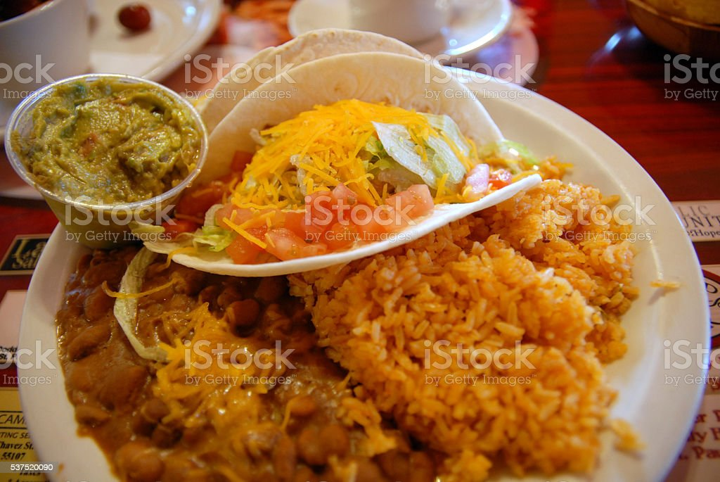 Taco Plate stock photo
