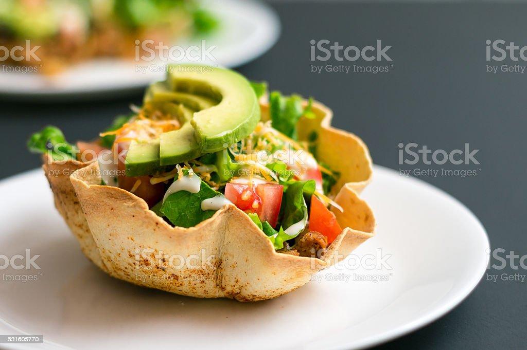 Taco salad shell stock photo