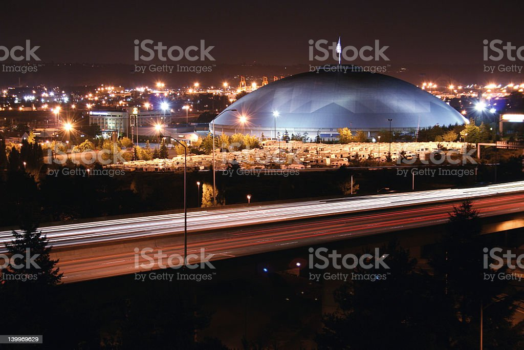 Tacoma at night royalty-free stock photo