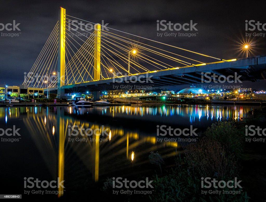 Tacoma Bridge stock photo
