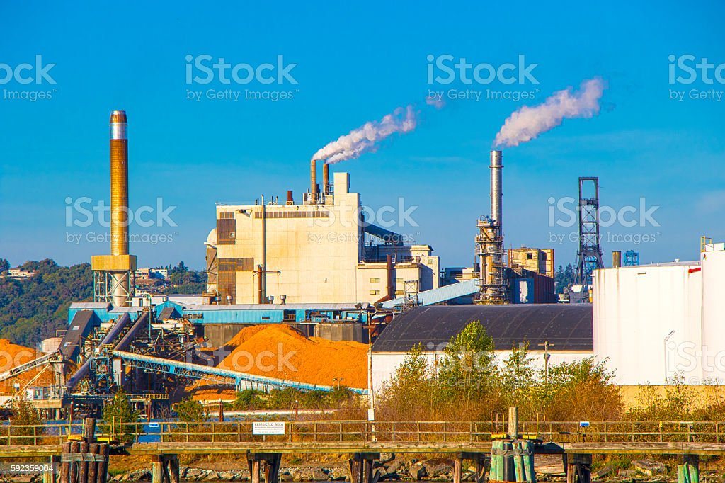 Tacoma Paper Mill stock photo