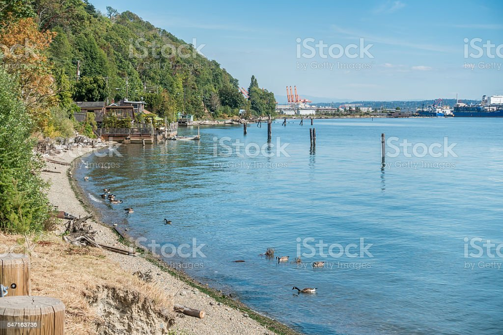 Tacoma Port Shoreline 2 stock photo