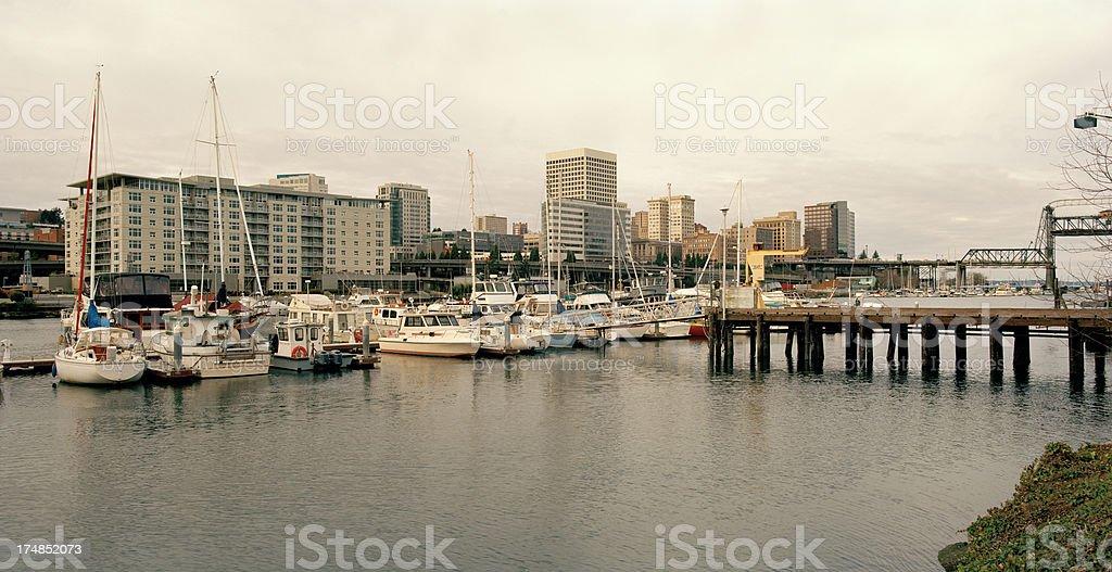 Tacoma Waterfront, Winter's Day royalty-free stock photo