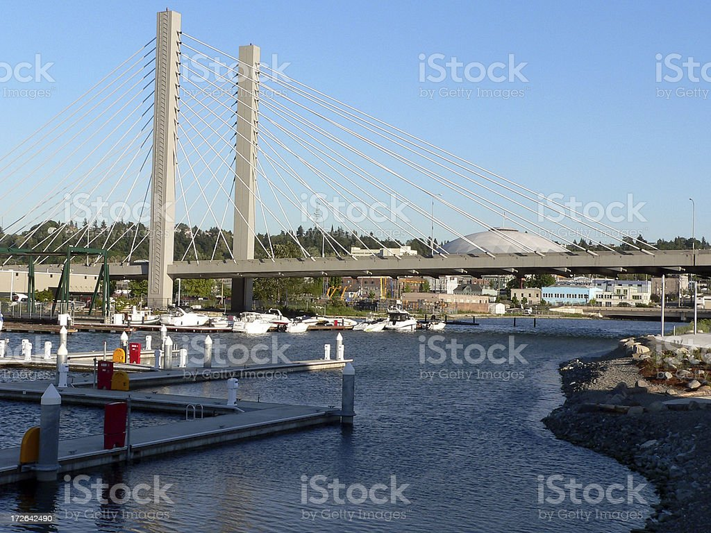 Tacoma waterway royalty-free stock photo
