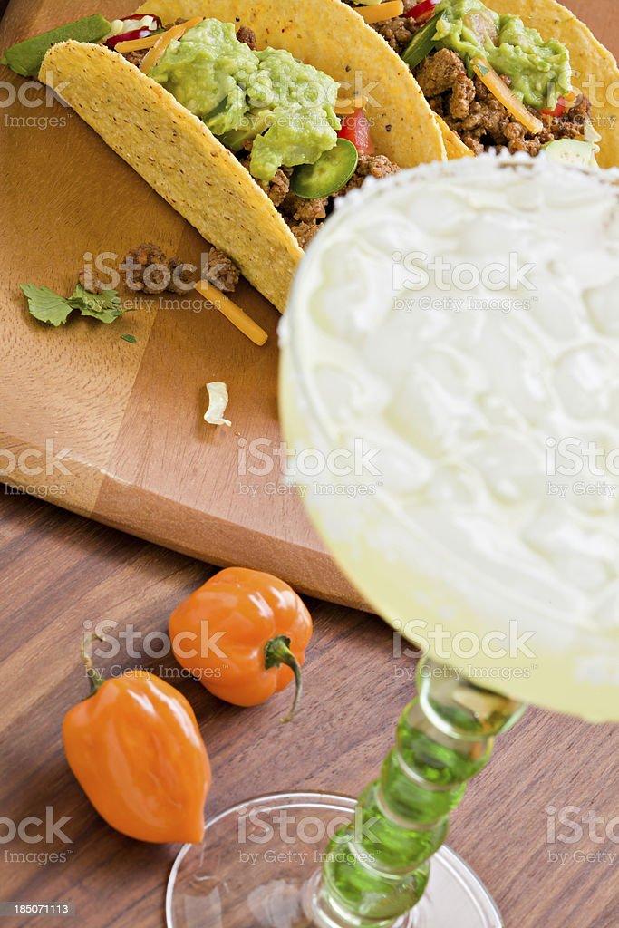 Tacos And A Margarita stock photo