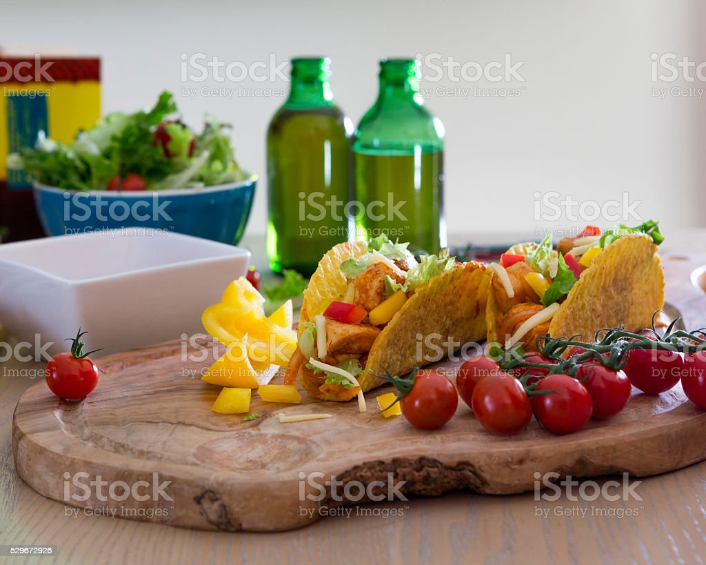 Tacos and Beer stock photo