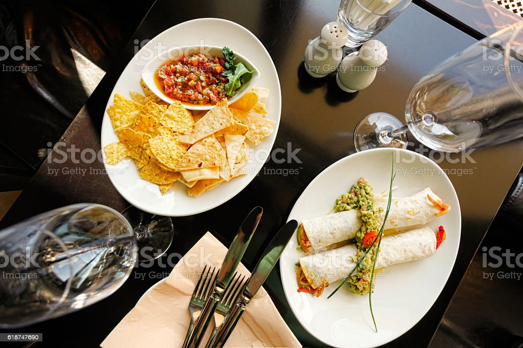 Tacos and Tortillas stock photo