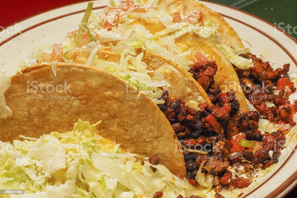 Tacos de Pastor royalty-free stock photo