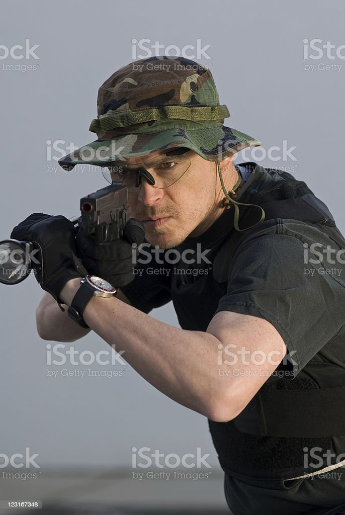Tactical Officer stock photo