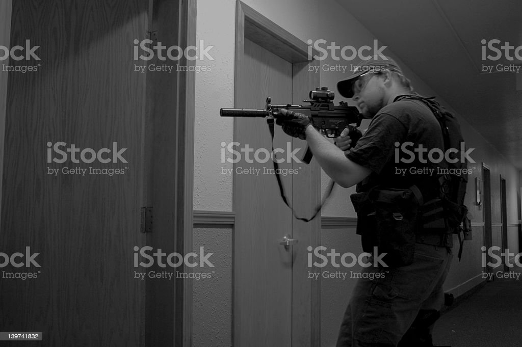 Tactical (B&W) stock photo