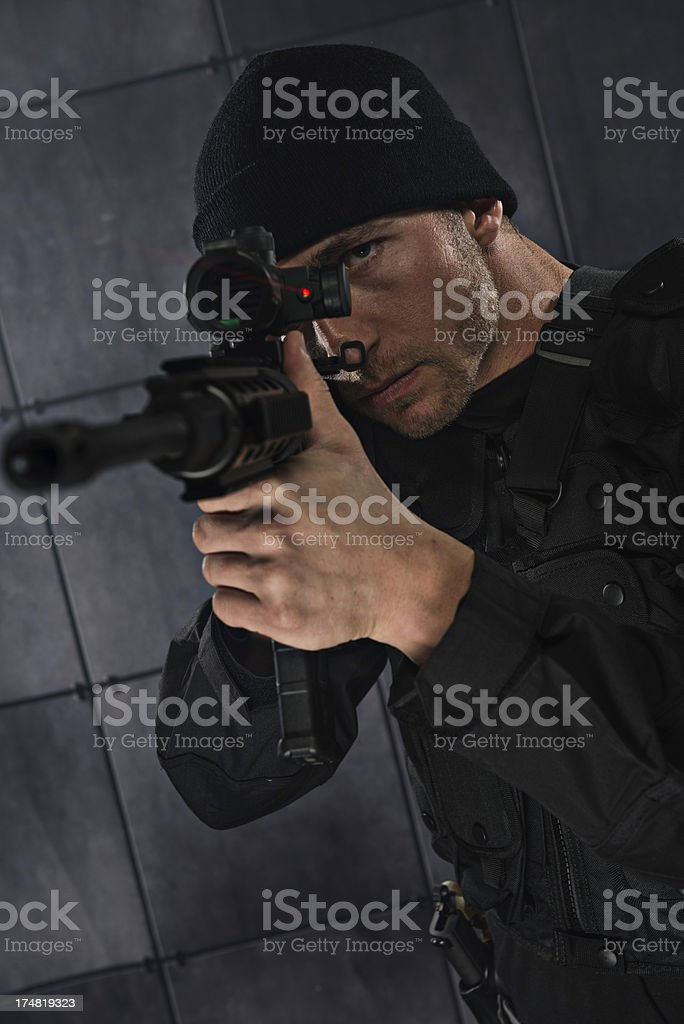 Tactical Team member royalty-free stock photo