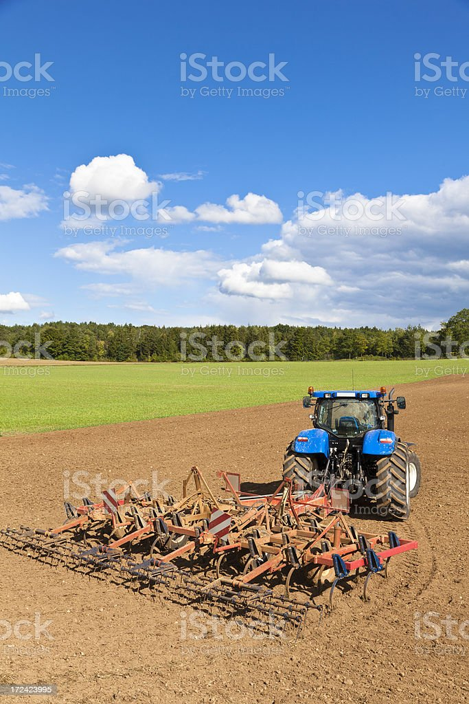 Tactor and Agriculture royalty-free stock photo
