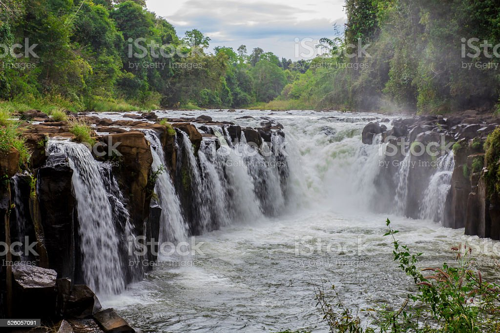 Tad Fane Waterfall, Bolaven Plateau stock photo