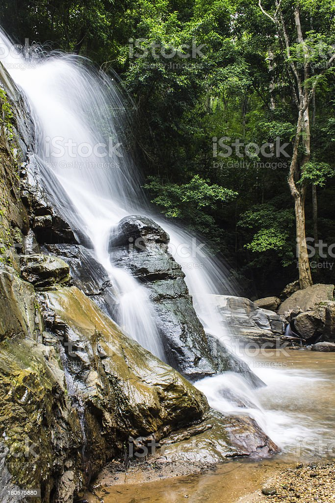 Tad Mork Water Fall in Maerim royalty-free stock photo