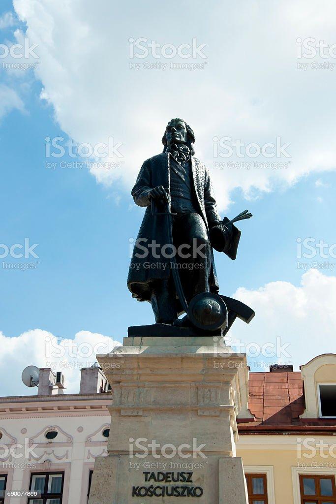Tadeusz Kosciuszko Statue - Rzeszow - Poland stock photo