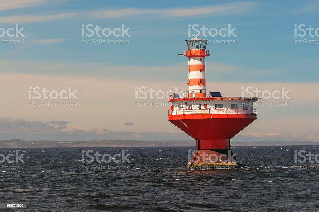 Tadoussac lighthouse, Quebec, Canada stock photo