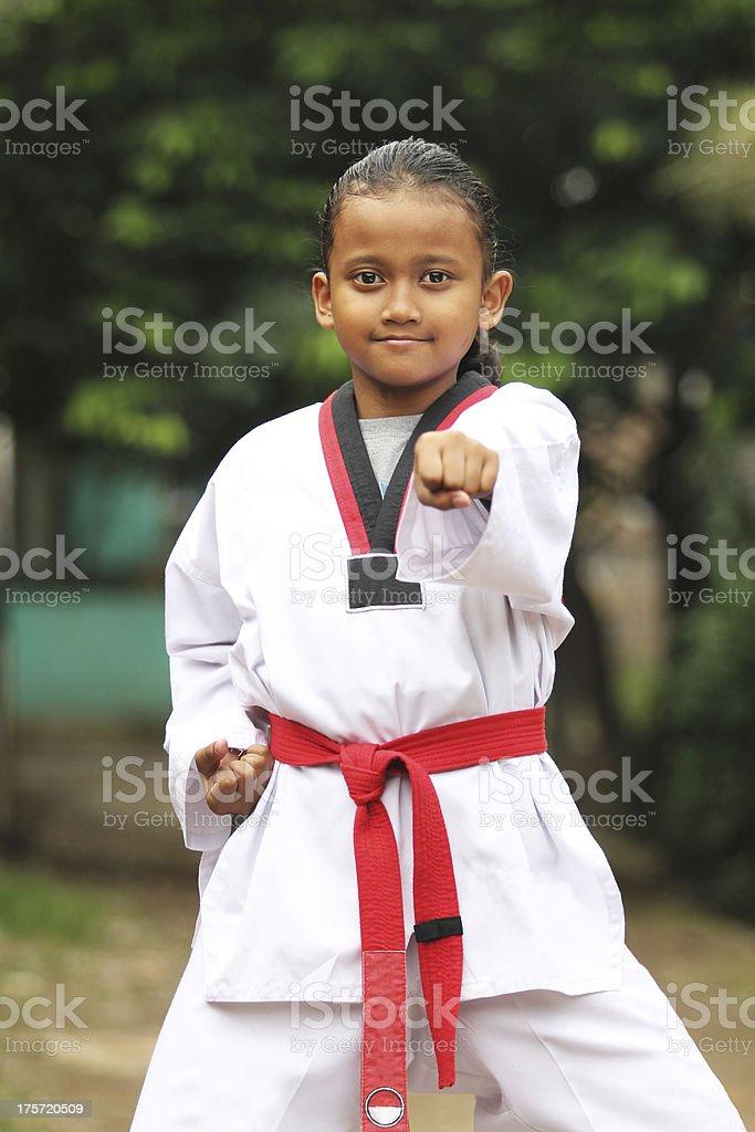 Tae kwon do Kid royalty-free stock photo