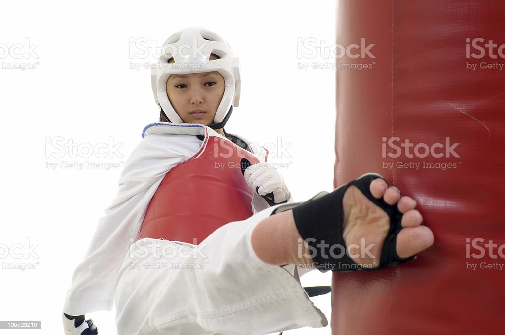 Tae Kwon Do practice royalty-free stock photo