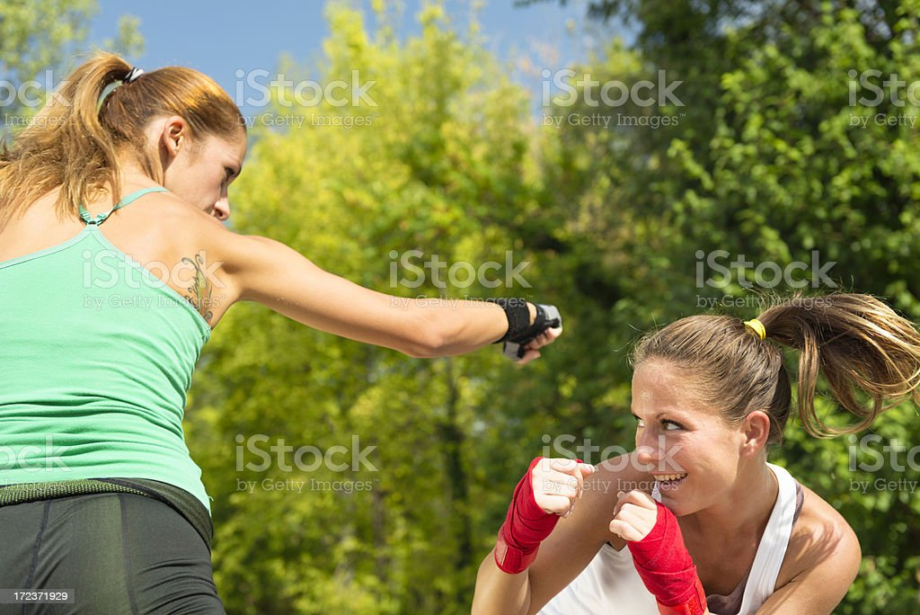 TaeBo boxing royalty-free stock photo