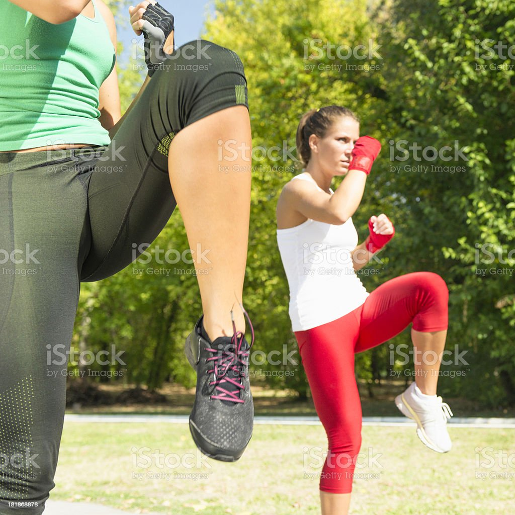 TaeBo front kicks stock photo