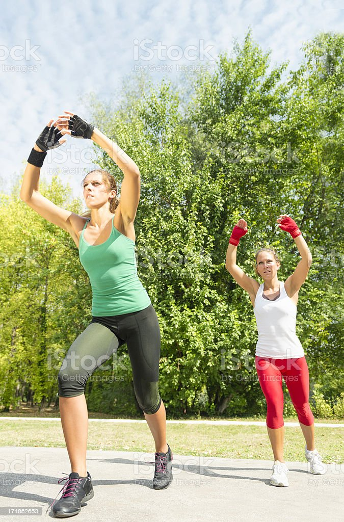 TaeBo presentation royalty-free stock photo