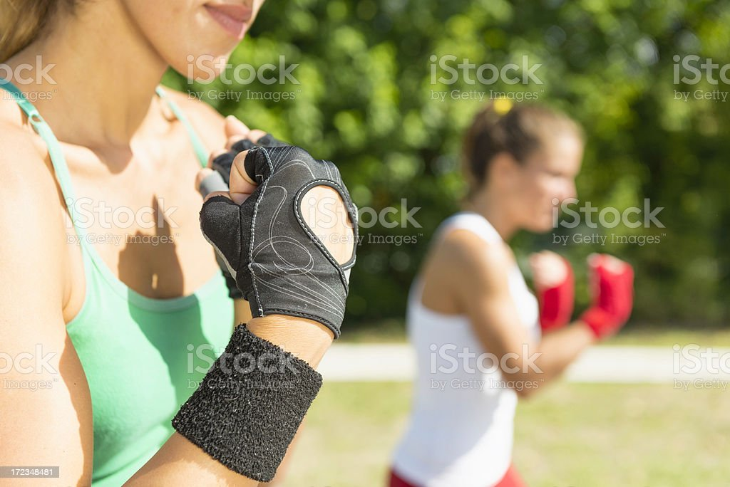 TaeBo training stock photo
