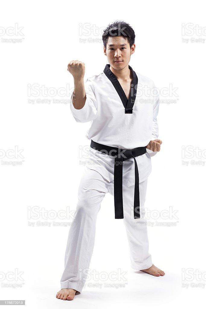 taekwondo action stock photo