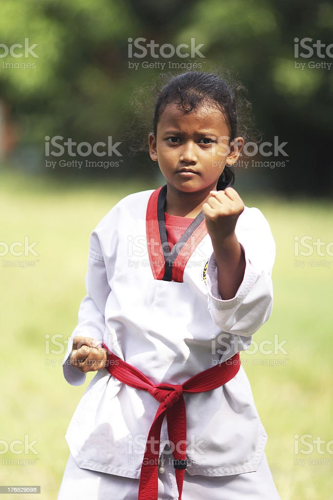 Taekwondo athlete royalty-free stock photo