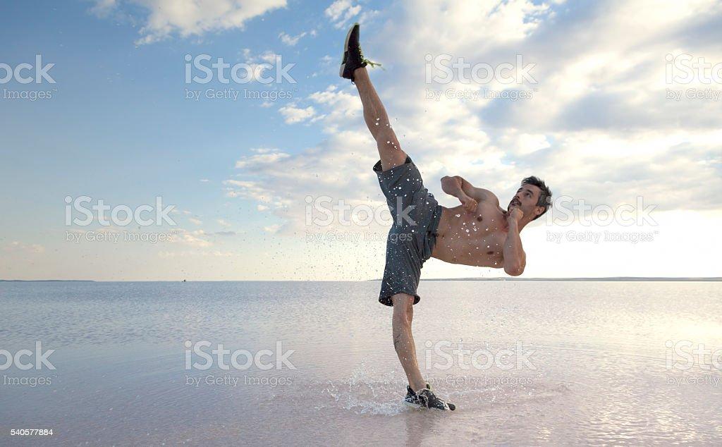 Taekwondo master stock photo