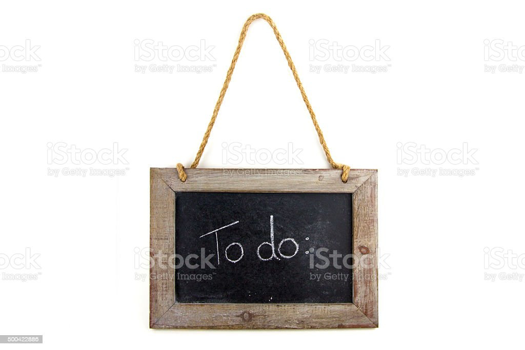 Tafel Holz To do stock photo