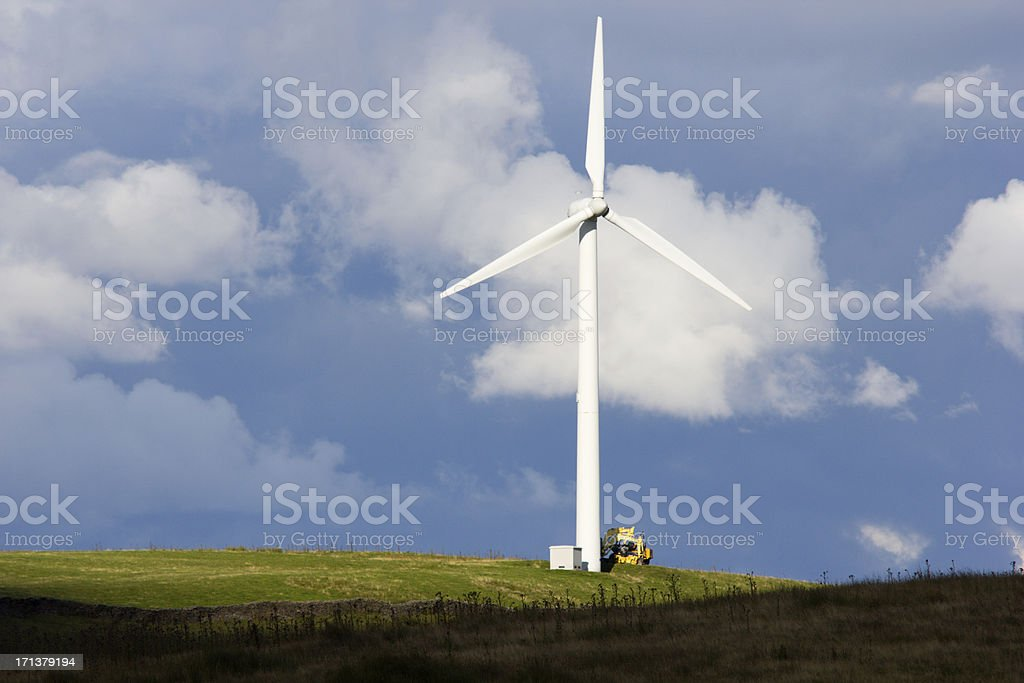 Taff Ely Wind Farm in Wales, UK royalty-free stock photo