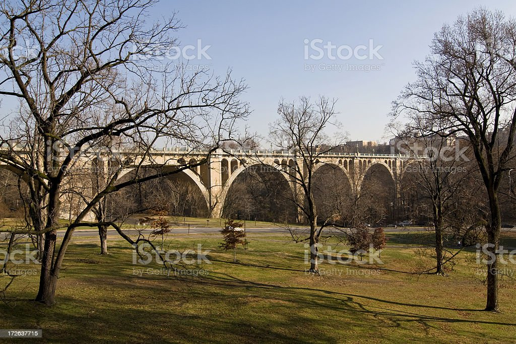 Taft Bridge Washington DC stock photo