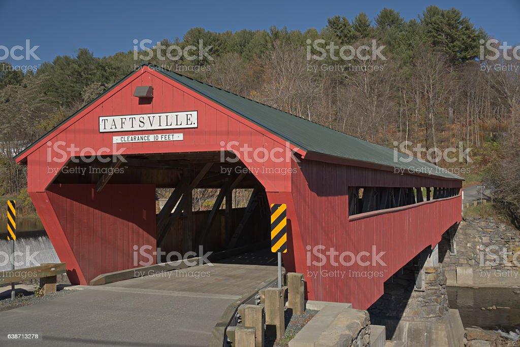 Taftsville Covered Bridge stock photo