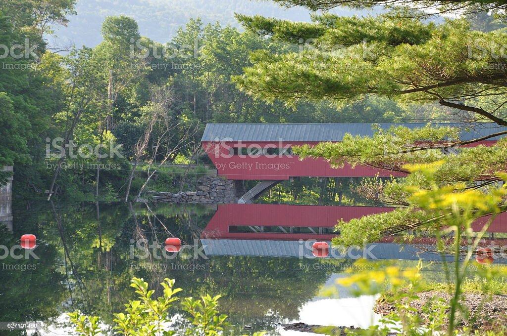 Taftsville Covered Bridge, Vermont stock photo