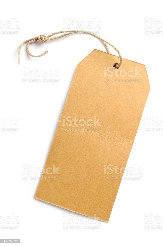 Tag on white background royalty-free stock photo
