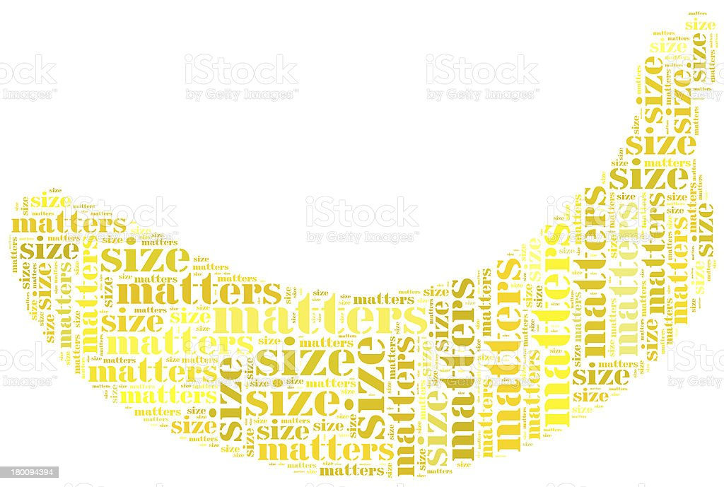 Tag or word cloud funny concept, size matters related stock photo