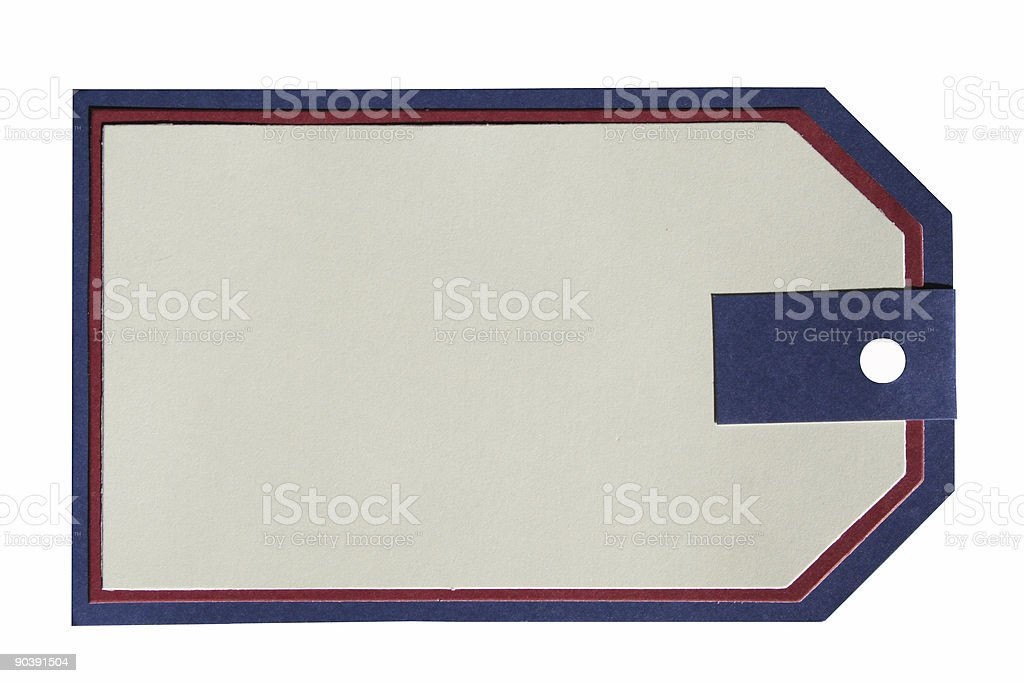 Tag paper isolated royalty-free stock photo