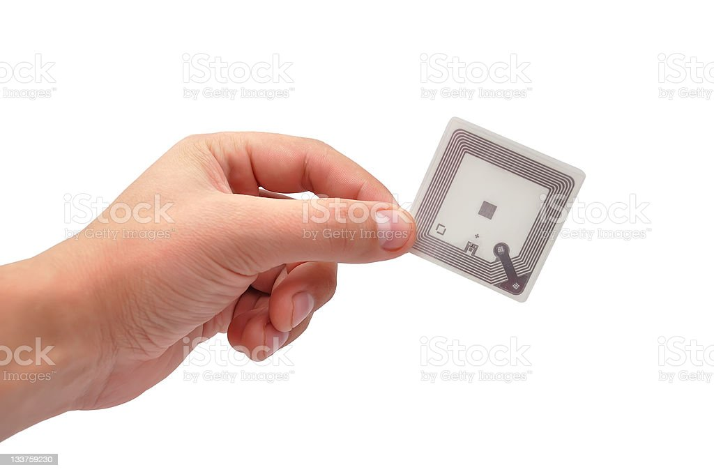 RFID tag royalty-free stock photo