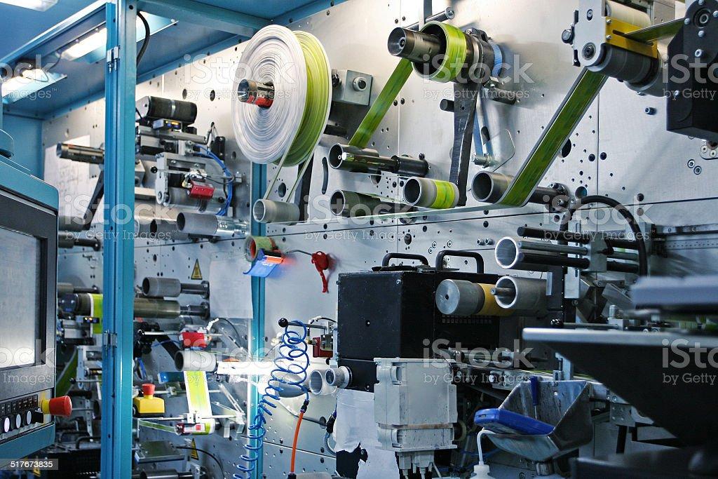 RFID tag printing press stock photo