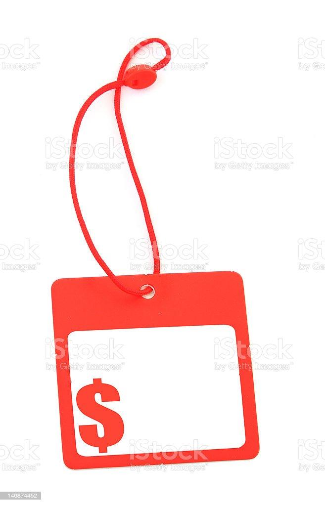 tag with dollar symbol stock photo