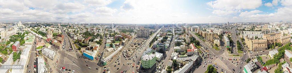 Taganskaya intersection stock photo