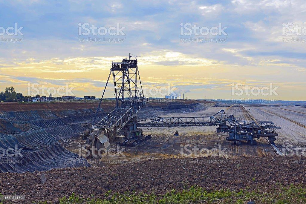 Tagebau royalty-free stock photo