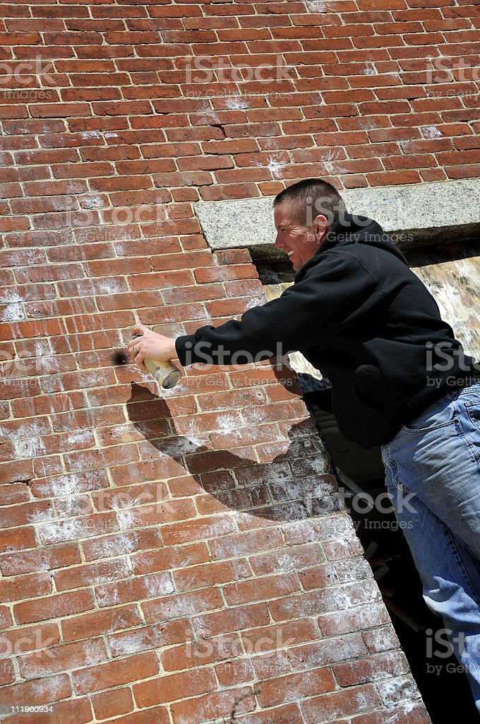 Tagger's Blank Canvas royalty-free stock photo